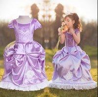Wholesale girl Luxury glaring Sophia Princess dress girl high end clothing original design girl party dress