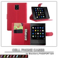 mobile case - cell phone case for Blackberry PASSPORT Q30 leather case wallet case for Blackberry mobile phone