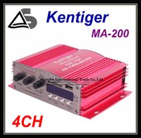 Wholesale MA CH Car Output Power Amplifier with Remote Controller LED Display USB SD MMC Card DVD CD FM Radio MP3 Digital Player Red