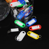 Wholesale plastic key card color classification keychain key ring card number cards key card collection