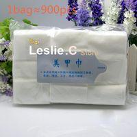 Wholesale Packs Pro Lint Free Nail Wipes Pad Polish Remover Gel Acrylic Tips Dropshipping Retail SKU