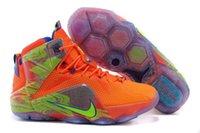 stretch fabric - Nike Men s LeBron Six Meridians LBJ Basketball Shoes Sneakers orange volt game royal magnet grey