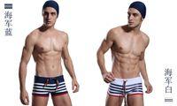 Cheap Wholesale-Popular Boy Swimming Trunks,Nava Stripe,Blue Bai Pants, Male Preppy Style ,Won't Fade , Fast Free Shipping