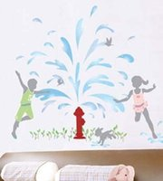 accent pieces for home - funlife x70cm FOUNTAIN KIDS Adhesive Home Wall Decor Accents Stickers Decal Vinyl
