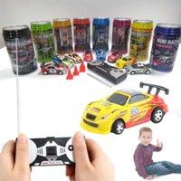 Wholesale Coke Can Mini Speed RC Radio Remote Control Micro Racing Car Toy Gift kid New rc racing car antenna