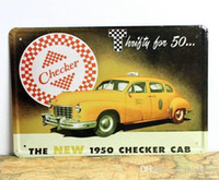 bar checker - The new checker cab metal poster Car style Tin poster Home Club Bar Cafe Hotel x12 inch x30cm CA06 ldx