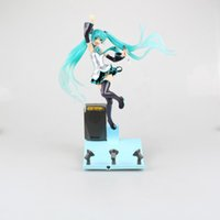 big garages - Hatsune Miku Stage Miku Action Figure Light Music Stage Miku Doll PVC ACGN figure Garage Kit Toy Brinquedos Anime CM