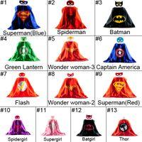 batman robin cartoons - Superhero Cape Mask Superman Batman Spiderman Teenage Mutant Ninja Turtle Frozen Flash Supergirl Batgirl Robin kids capes kids mask