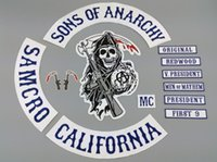 custom clothing - Sons Of Anarchy Patch BLUE TWILL STYLE Biker MC Patches For Clothes Back Full Size Custom Embroidered Iron On Patches