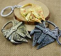 anchor keychain - Hot style Star Was Keychains Fashion Accessories Millennium Falcon Ship Model Metal Keychain Movie Toy Pendant KeyChain Sci f Bottle openers