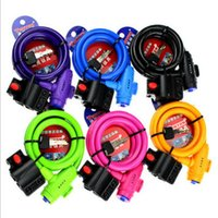 bear hide - 1pcs Hidden keyhole six color combination lock bicycle Anti theft mountain bike chain cable dead flying bicycle padlock lock