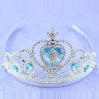 Wholesale Girls Frozen Styling Tools Crown Hair Accessories Kids Party Jewelry Hairstyles Accessories Fashion Tiara Cheap Jewelrys