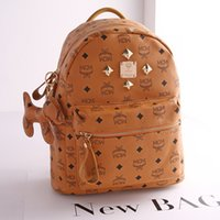mcm bag - Spring Fashion Classic MCM Large STARK BACKPACK VISETOS Shoulder Backpack Bag Rain girlhood Element Rivets Love Backpack Bag colors