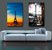 Wholesale High Resolution Environmental Wallpapers Eiffel Tower Art Deco Painting