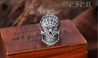 Wholesale The Hot Moive Vintage Jewelry Spiderman Exaggerated Personality Antique Silver Plated Ring