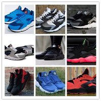 Wholesale Famous Trainers Air Huarache Free Huarache Classic Men s Sports Running Shoes Black Triple Size