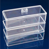 acrylic containers for makeup - New Practical Clear Acrylic Cosmetic Organizer Drawers Case Container for Makeup Jewelry Storage