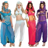 belly dancer dress - New Princess Jasmine Genie Arabian Belly Dancer Fancy Dress Sexy Costume Halloween