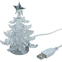 Cheap Free Shipping New USB Christmas Tree Light Led Color-changing Nightlight Book Lamp Present
