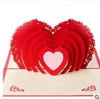 affinity sales - 2015 hot sale Marry love Valentine s Day cards D Wedding invitations Wedding card postcard creative gifts have mutual affinity