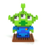 alien miniatures - LOZ middle gift box Alien LOZ diamond Mini Blocks cartoon Minifigures Action Figures Plastic Bricks Miniature Anime Blocks