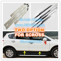 Wholesale 2014NEW suzuki sx4 s cross accessory ABS CHROME SIDE DOOR MOULDING TRIM PROTECTOR PRETTY ENOUGH FOR SCROSS P SET NEW ARRIVE
