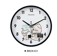 Wholesale 26cm Lovely black pig Cartoon children bedroom Wall Clock Home Decor Mute creative living room modern quartz Kid Wall Clock gift