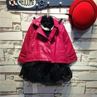 Wholesale Baby children s clothing boutique pearl film grid shirt skirt collocation