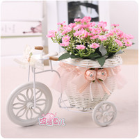 plastic rattan - Beautiful Floats Basket Wedding Supplies Furnishings Home Decorations Plastic Flower With Rattan Floats Flower Baskets Suit In Stock