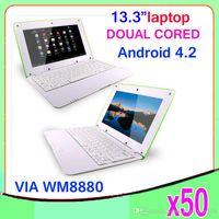 Wholesale DHL inch VIA WM8880 Dual core GHz laptop thin bluetooth HDMI netbook ZY BJ