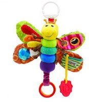 bird toys - Freddie the Firefly Plush Toys for baby carriage bee with ring paper and mirrors pink butterfly for hang