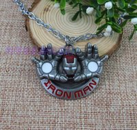 3d movies for sale - 2015 Hot sale Movie Avengers Marvel Iron Man D metal alloy pendant necklace jewelry for mens gift