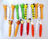 Wholesale Kids Wood Skipping Jump Rope Wooden Toy Party Favor Summer Supply Fitness Brand New Good Quality