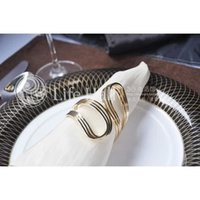 act tables - FBH071770 simple lines golden napkin ring hotel dining table act the role ofing is tasted example room dedicated