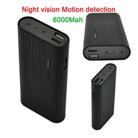 Wholesale Real power bank mah spy cameras hidden P night vision spy camera with motion detection HD security cameras