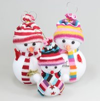 Wholesale 2015 Christmas Tree Decorations Cute Snowman Doll Santa Claus Christmas Supplies Festive Party Supplies