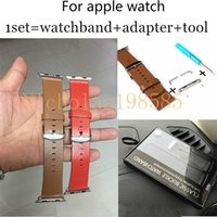 lunatik - For apple watch Fashion Lunatik Chicago Collection Leather Watch Band Strap Bracelet Classic Buckle watchband and apter and tool MM MM