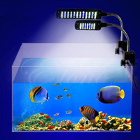 Wholesale New LED Aquarium Light Fish Tank Lamp with Flexible Clip White and Blue Color Lighting US EU Plug