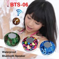 bathroom plus - Mini BTS Waterproof Bluetooth Speaker Phone Call Handfree with Suction Cup Bathroom Car for iPhone Plus Android S6 Mix Patterns