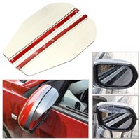 Wholesale 2x Universal Auto Car Rear View Mirror Rainproof Blade Cover Clear VPA EXT A01 order lt no track