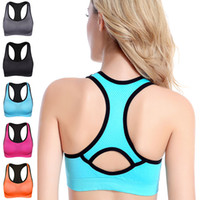 Wholesale 2016 New Anti vibration Running Sports Yoga Wireless Bra High Quality Seamless Microfiber Pullover Bra Body Shape Bra