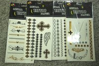 Wholesale Henna Complete Tattoos Sticker Kit Makeup D Tattoos bronzing hot silver glitter tattoos stickers