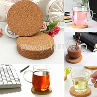 Wholesale 6pcs Round shape Plain Cork Coasters Drink Wine Mats Cork Mats Drink Wine Mat cm cm ideas for wedding and party gift order lt no tr