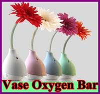 Cheap USB LED Anion Daisy Flower Vase Oxygen Bar Air Purifier Smoke Dust Cleaner USB Oxygen Bar Air Purifiers Ionizer for Car Computer Laptop