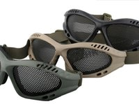 Wholesale Iron Net Goggles Sand Wind UV proof CS Protection Protective Glasses Anti bees Wild Black Green Sandy Color Cycling Eyewear