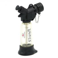 Wholesale Dower Windproof Butane Jet Lighter Torch Black Transparent No gas