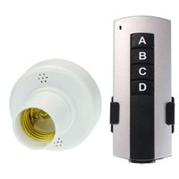 Wholesale E27 Base AC V V Worldwide Wireless Remote Control Light Lamp Switch Socket Holder Snow