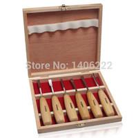 Cheap Free shipping 6pcs Wood carving tool set of 6 Carving chisel Carving Knife Carving Set