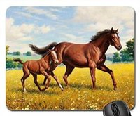 best mouse pad - Horse and foal painting Best Rubber Mousepad Gaming Mouse Pad