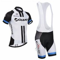 Wholesale Team Giant White black Cycling Jerseys Bike Jerseys Summer Short Sleeves Top Bib Shorts Bicycle Jerseys Quick Drying Bike Sportswear